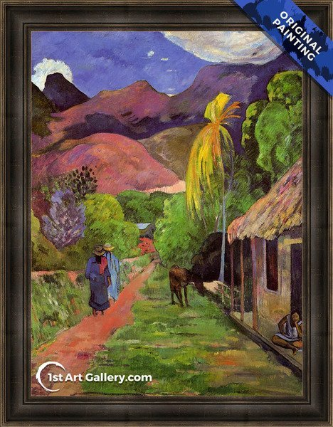Road In Tahiti Painting by Paul Gauguin - Original Painting