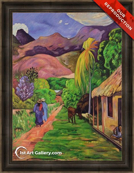 Road In Tahiti Painting by Paul Gauguin - Oil Reproduction