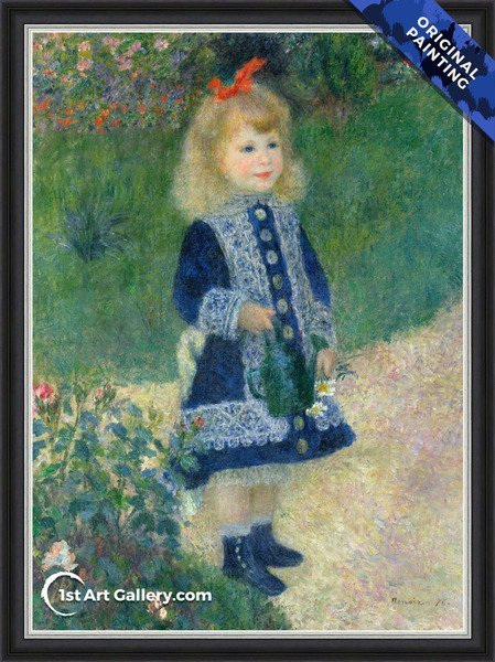 Girl With A Watering Can Painting by Pierre Auguste Renoir - Original Painting