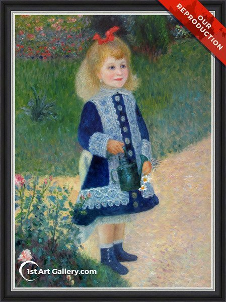 Girl With A Watering Can Painting by Pierre Auguste Renoir - Oil Reproduction