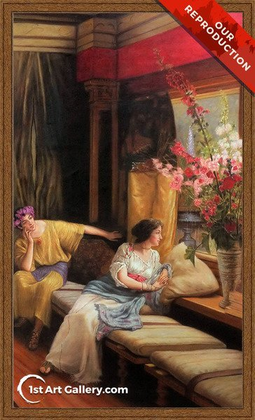 Vain Courtship 1900 Painting by Sir Lawrence Alma-Tadema - Oil Reproduction