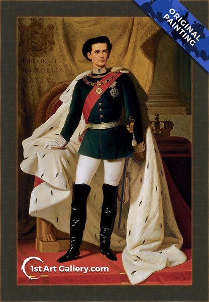 Portrait of Ludwig II Painting by Ferdinand II Piloty - Original Painting