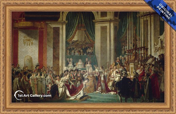 Consecration of the Emperor Napoleon I - Original Painting
