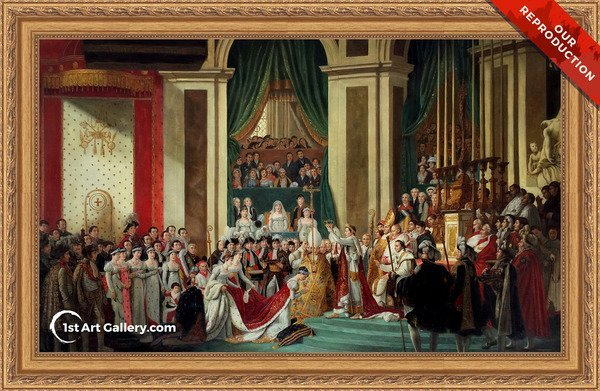 Consecration of the Emperor Napoleon I - Oil Painting Reproduction