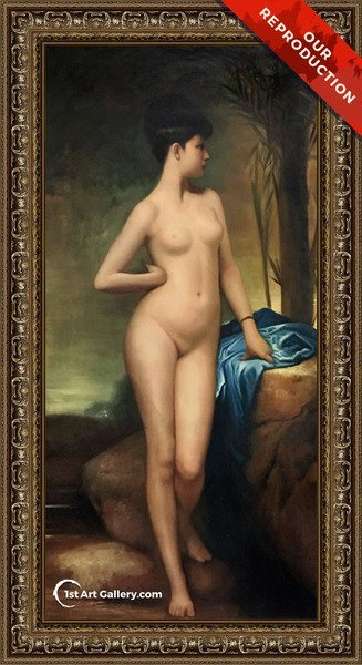 Chloe Painting by Jules Joseph Lefebvre - Oil Reproduction