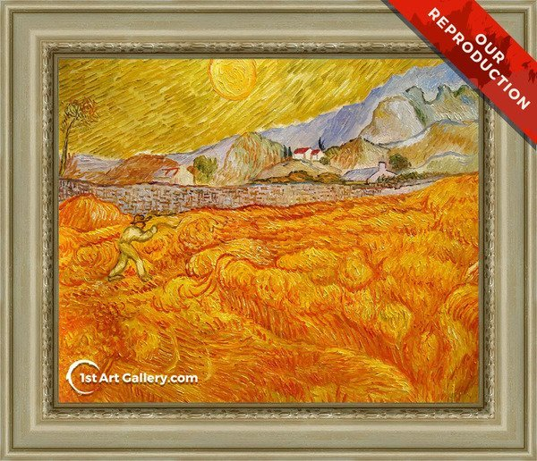 Reaper Painting by Vincent Van Gogh - Oil Reproduction