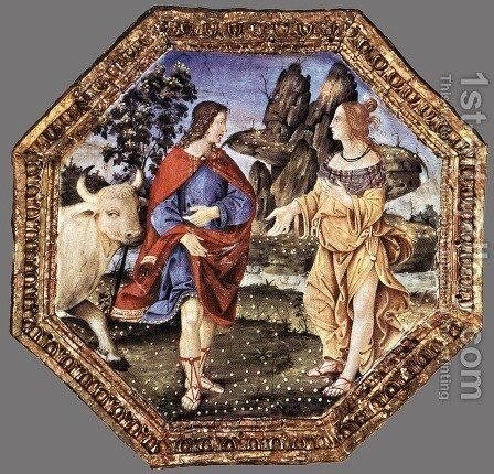 Ceiling decoration 1492-94 by Bernardino di Betto (Pinturicchio) - Reproduction Oil Painting