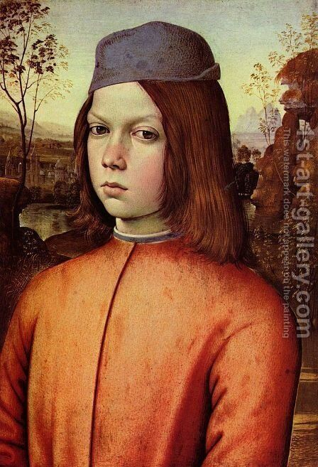 Portrait of a Boy 1481-83 by Bernardino di Betto (Pinturicchio) - Reproduction Oil Painting