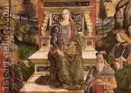 The Arithmetic (lower center view) by Bernardino di Betto (Pinturicchio) - Reproduction Oil Painting