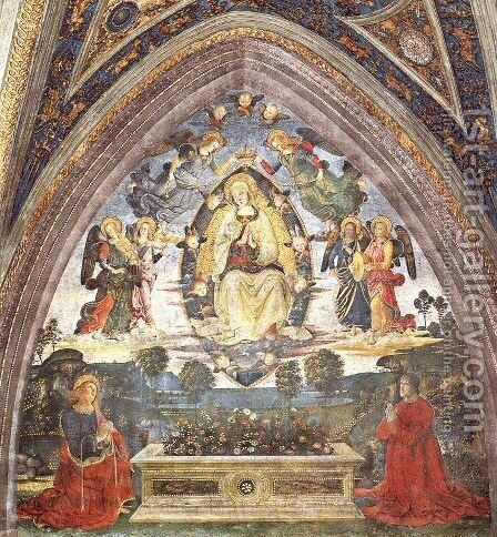 The Assumption of the Virgin by Bernardino di Betto (Pinturicchio) - Reproduction Oil Painting