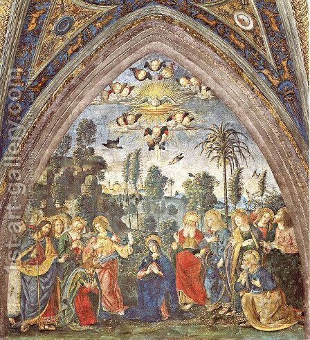 The Descent of the Holy Spirit by Bernardino di Betto (Pinturicchio) - Reproduction Oil Painting