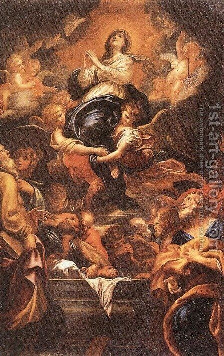 Assumption of the Virgin 1676 by Domenico Piola - Reproduction Oil Painting