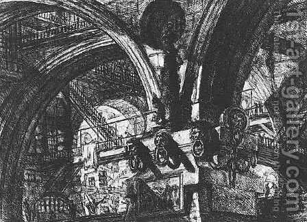 Carceri d'Invenzione- plate XV (first edition) by Giovanni Battista Piranesi - Reproduction Oil Painting