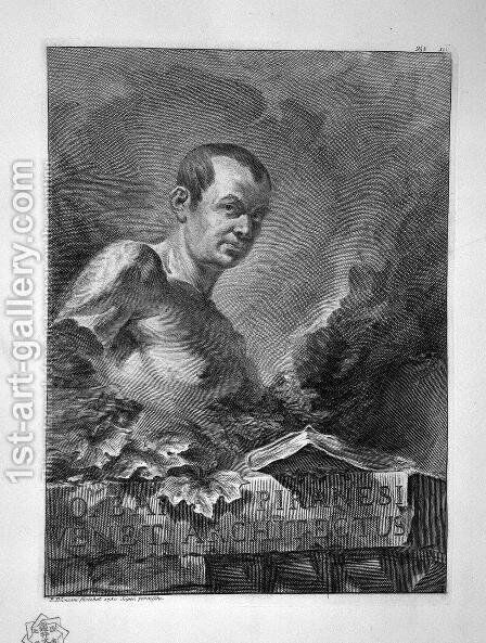 Self-Portrait by Giovanni Battista Piranesi - Reproduction Oil Painting