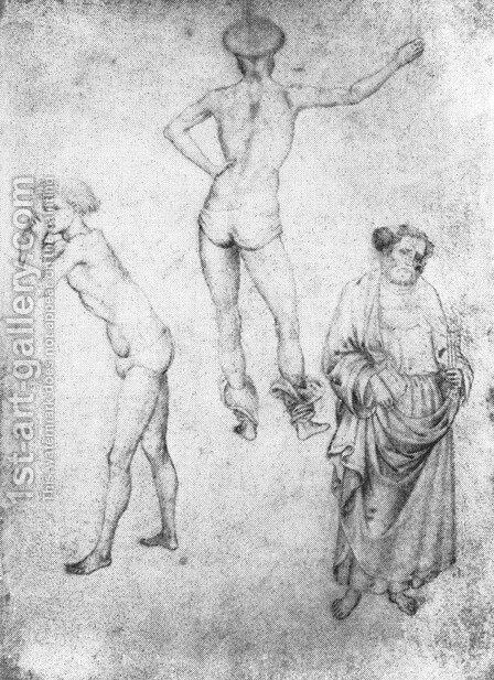 Nude Men and St Peter c. 1430 by Antonio Pisano (Pisanello) - Reproduction Oil Painting