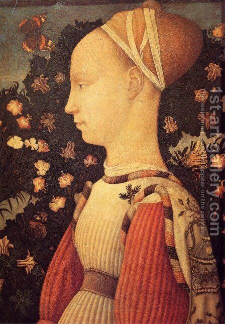 Portrait of a Princess of the House of Este 1436-38 by Antonio Pisano (Pisanello) - Reproduction Oil Painting