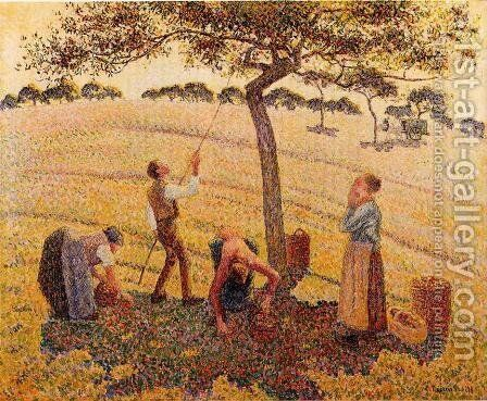 Apple Picking at Eragny-sur-Epte  1888 by Camille Pissarro - Reproduction Oil Painting