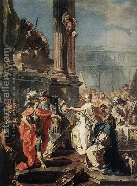 The Sacrifice of Polyxena by Giovanni Battista Pittoni the younger - Reproduction Oil Painting
