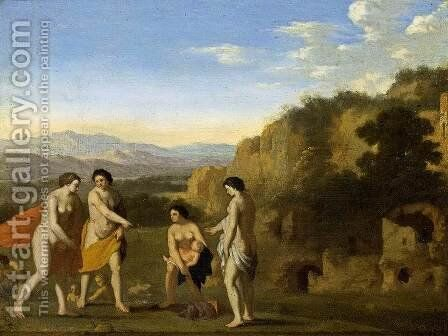 The Finding of Moses by Cornelis Van Poelenburgh - Reproduction Oil Painting
