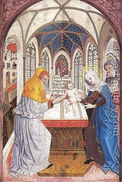Presentation in the Temple 1444 by Master of the Polling Panels - Reproduction Oil Painting