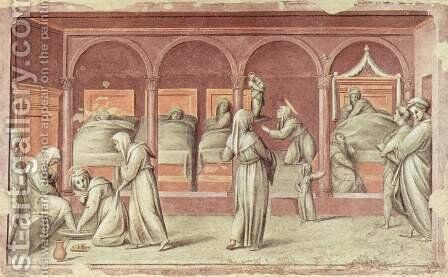 Episode from Hospital Life by (Jacopo Carucci) Pontormo - Reproduction Oil Painting