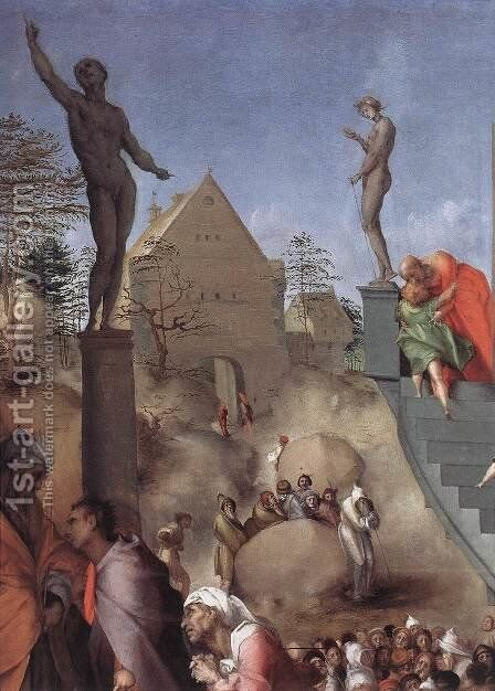 Joseph in Egypt (detail) 1515-18 by (Jacopo Carucci) Pontormo - Reproduction Oil Painting