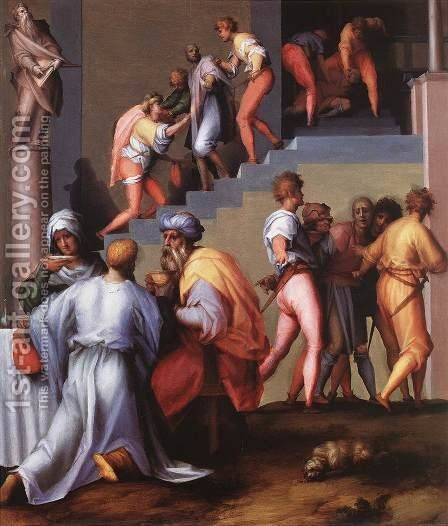 Punishment of the Baker 1515-18 by (Jacopo Carucci) Pontormo - Reproduction Oil Painting