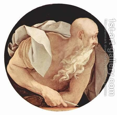 St John the Evangelist c. 1525, Oil on wood by (Jacopo Carucci) Pontormo - Reproduction Oil Painting