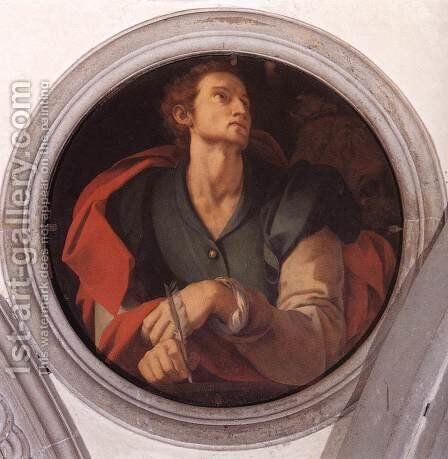 St Luke c. 1525 by (Jacopo Carucci) Pontormo - Reproduction Oil Painting