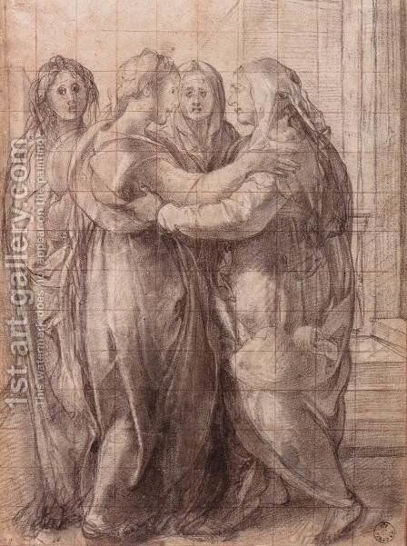 "Study for ""The Visitation"" 1528 by (Jacopo Carucci) Pontormo - Reproduction Oil Painting"