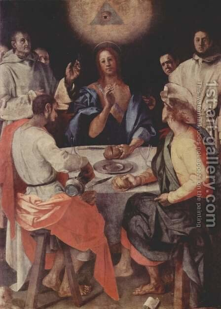 Supper at Emmaus 1525 by (Jacopo Carucci) Pontormo - Reproduction Oil Painting