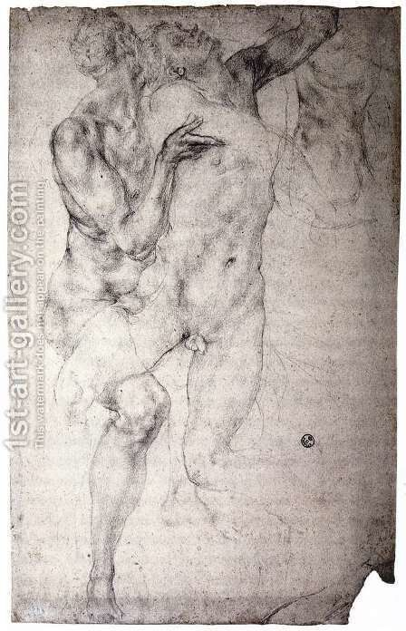 Two nudes by (Jacopo Carucci) Pontormo - Reproduction Oil Painting