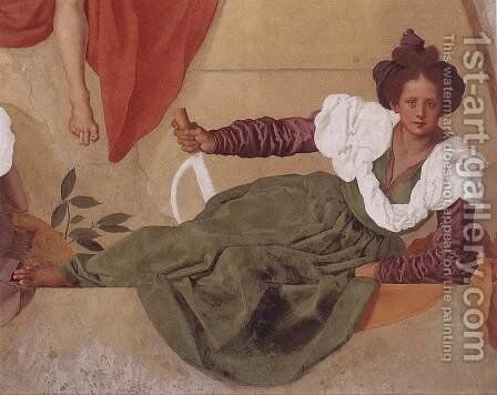 Vertumnus and Pomona (detail-3) 1519-21 by (Jacopo Carucci) Pontormo - Reproduction Oil Painting