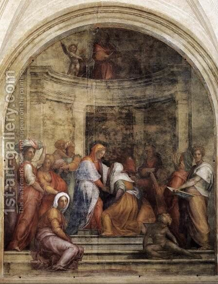 Visitation 1514-16 by (Jacopo Carucci) Pontormo - Reproduction Oil Painting