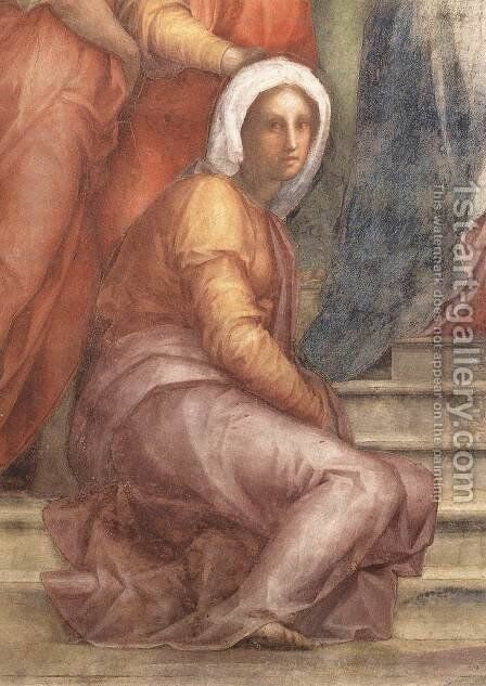 Visitation (detail) 1514-16 by (Jacopo Carucci) Pontormo - Reproduction Oil Painting