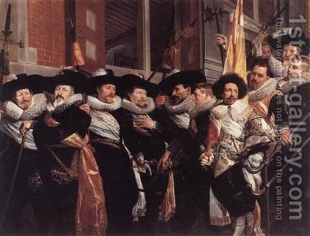 Officers of the Civic Guard of St Adrian 1630 by Hendrick Gerritsz Pot - Reproduction Oil Painting