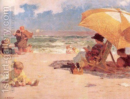 At the Seaside by Edward Henry Potthast - Reproduction Oil Painting