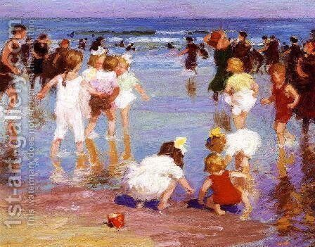 Happy Days 1910-20 by Edward Henry Potthast - Reproduction Oil Painting