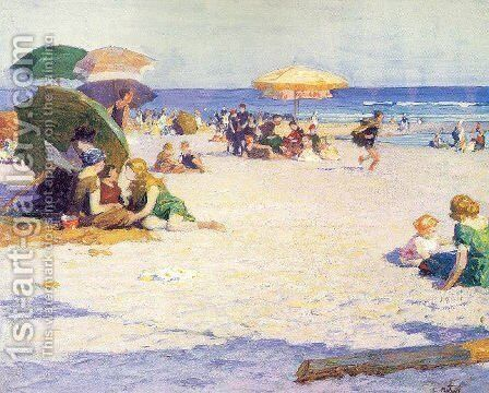 Long Beach 1922 by Edward Henry Potthast - Reproduction Oil Painting