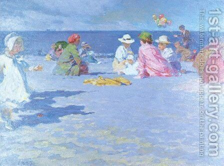 The Balloon Vendor 1910 by Edward Henry Potthast - Reproduction Oil Painting