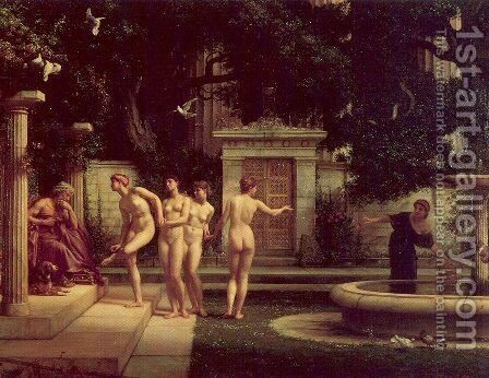 A Visit to Aesculipius 1880 by Sir Edward John Poynter - Reproduction Oil Painting