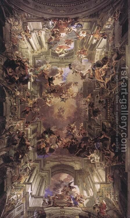 Allegory of the Jesuits' Missionary Work 1691-94 by Andrea Pozzo - Reproduction Oil Painting
