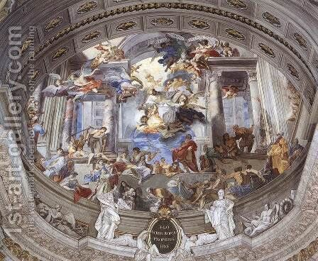 Allegory of the Jesuits' Missionary Work (detail-1) 1691-94 by Andrea Pozzo - Reproduction Oil Painting