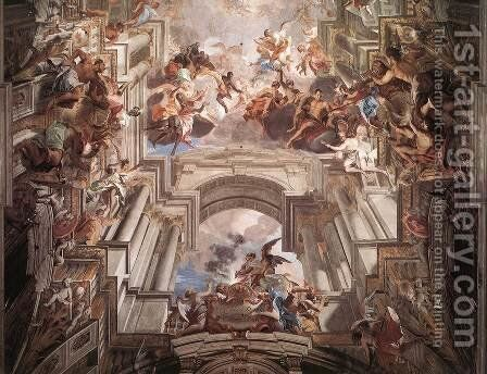 Allegory of the Jesuits' Missionary Work (detail-3) 1691-94 by Andrea Pozzo - Reproduction Oil Painting