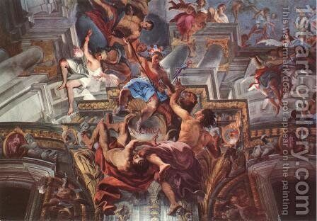 Allegory of the Jesuits' Missionary Work (detail-5) 1691-94, Fresco, Sant'Ignazio, Rome by Andrea Pozzo - Reproduction Oil Painting