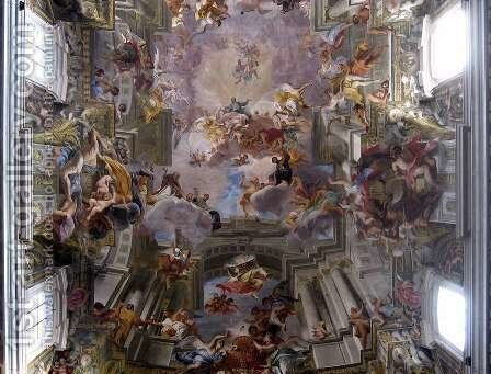 Allegory of the Jesuits' Missionary Work (detail-6) 1691-94, Fresco, Sant'Ignazio, Rome by Andrea Pozzo - Reproduction Oil Painting