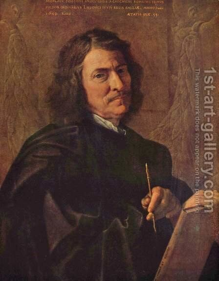 Self-Portrait 1649 by Nicolas Poussin - Reproduction Oil Painting