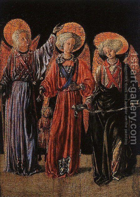 The Archangels with the Young Tobias 1440 by Master of Pratovecchio - Reproduction Oil Painting