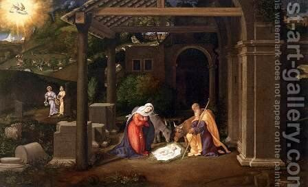 Nativity 1515-20 by Andrea Previtali - Reproduction Oil Painting