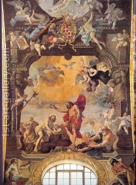 The Baptism of Christ 1661 by Mattia Preti - Reproduction Oil Painting